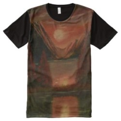 reflection all over print t shirt